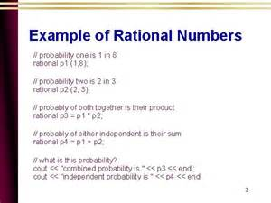 Rational Numbers Examples