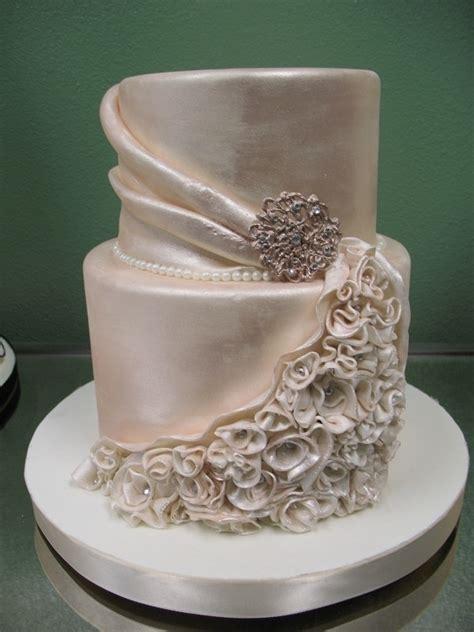 silky champagne color wedding cake  cake pinterest