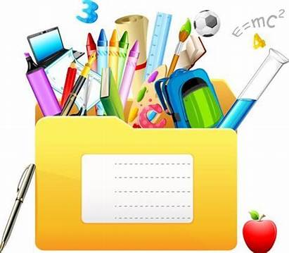 Ecole Crayons Clipart Scolaire Fourniture Fournitures Classe