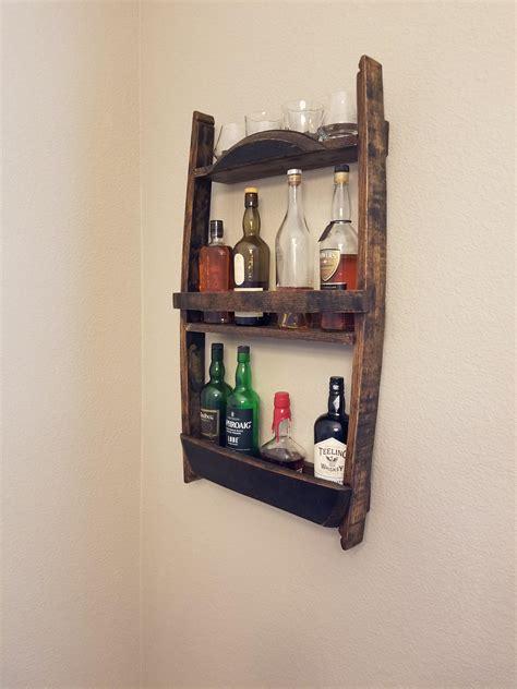 bourbon barrel stave whiskey rack finished