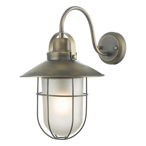 nautical design outdoor wall lantern in solid weathered