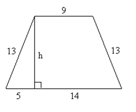 Diagram Of Trapezoid by Word Problems Area And Perimeter Of Trapezoids
