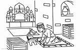 Ramadan Coloring Pages Clipart Printable Adults sketch template