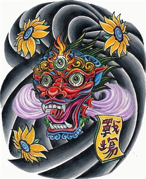 traditional asian chinese japanese tattoo design clouds  eyed face tattoo ideas japanese