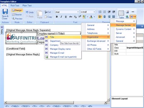 template editor exchange signature software exclaimer