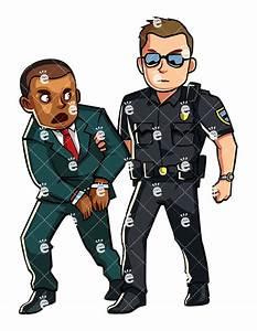 Police Officer Arresting A Formally Dressed Black Man ...
