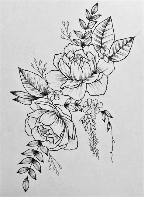 Love peonies and floral/botanical pieces. Drew this week and like the look enough to maybe work