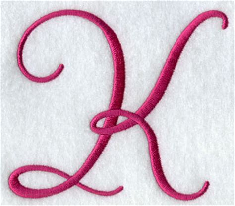 fancy letter k machine embroidery designs at embroidery library