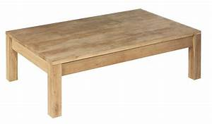 Table Basse Rectangulaire Bois : table basse en bois pas cher ~ Teatrodelosmanantiales.com Idées de Décoration