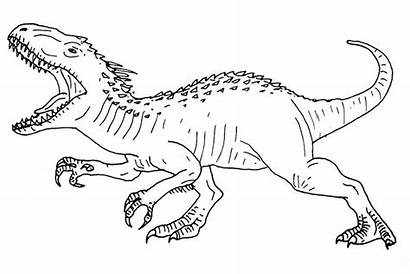 Jurassic Coloring Pages Dinosaur Rex Park Kleurplaat