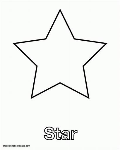 Star Coloring Shape Shapes Stars Pages Template