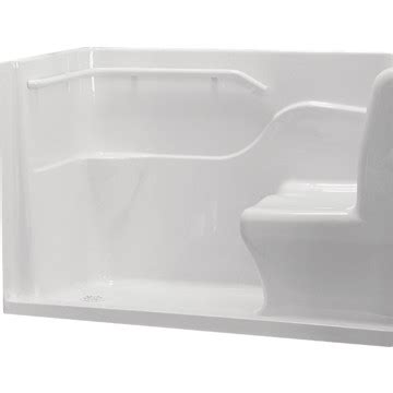 60 X 30 Shower Base With Seat by American Standard 174 Acrylic Seated Safety Shower Base White