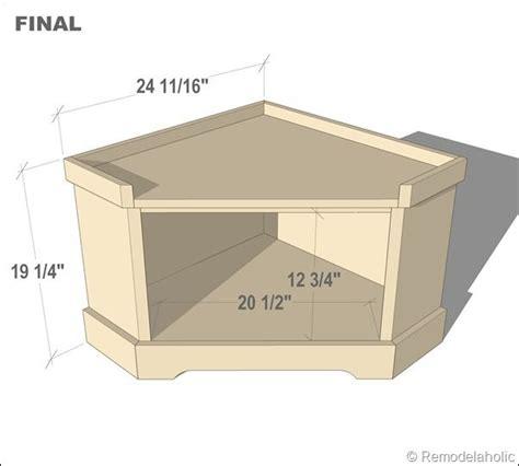 dyi corner storage bench specs  step  step