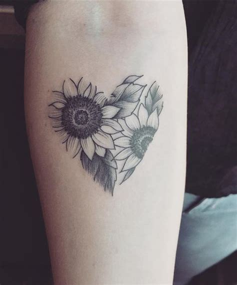 cute sunflower  hear tattoos  beautiful  wrist