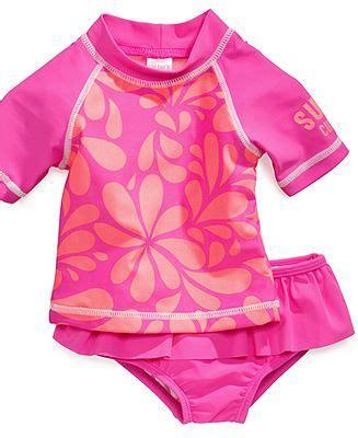 carters baby swimwear baby girls  piece rash guard