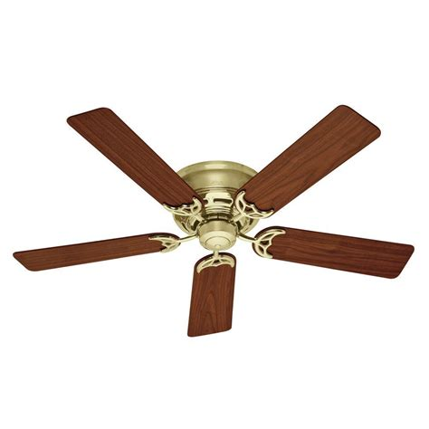 low hanging ceiling fan hunter newsome 52 in indoor brushed nickel bowl light kit