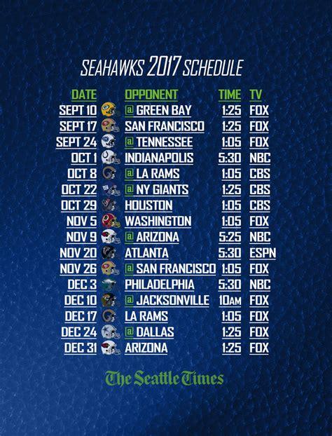 seahawks finalize   preseason games  seattle