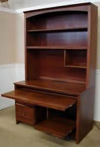 ethan allen country colors maple computer desk workstation with hutch 14 9436 ebay