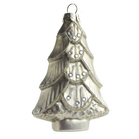 glitter jeweled christmas tree glass ornament christmas