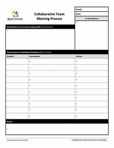 recording minutes template - collaborative team meeting record template