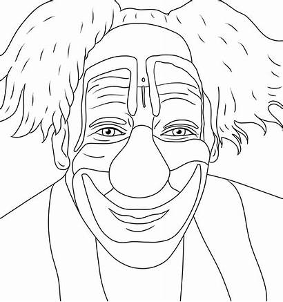 Coloring Pages Clown Creepy Adult Adults Horror