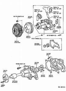 Toyota Corolla Engine Water Pump Housing  Rear   Pump