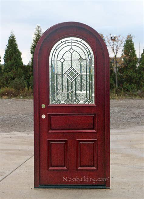 Round Top Doors  Mahogany Arched Exterior Doors