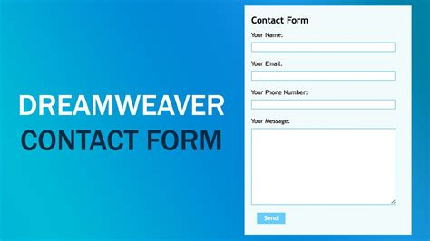 Create Contact Form  Dreamweaver Cs6 Tutorial  Youtube. Pre Op Diet For Gastric Sleeve. Headache Clinic Houston Direct Tv Information. What Can Cause Abdominal Pain During Intercourse. Military Friendly Colleges Movers In Maryland. Hvac Technician Training Books. Restaurant Table Management Software. Music Colleges In Miami Free Savings Accounts. Hensley Heating And Air University Of Phinoex