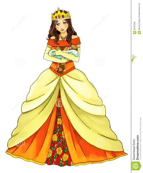 cartoon princess stock illustration image