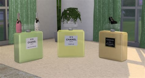 My Sims 4 Blog: Decorative Chanel Perfume Bottles by TheShed