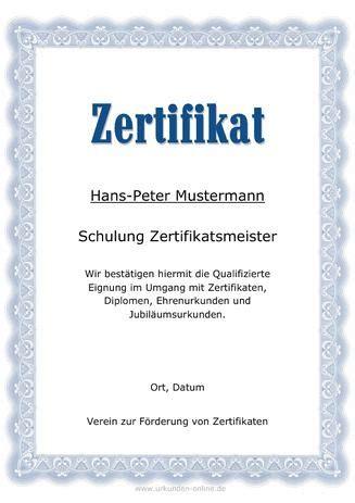 vorlage professionelle zertifikate wie teilnahme