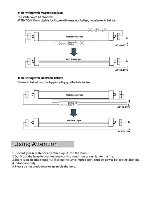 Single Pin Base Led Light Tube Work Without