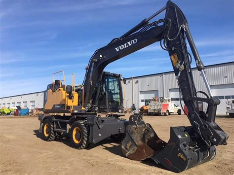 volvo ewe wheeled excavators construction equipment