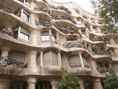 Gaudi Antoni Architecture Barcelona Purple Buildings Diary
