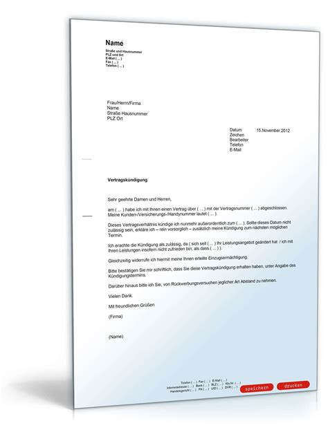 fristlose kündigung mietvertrag muster fristlose vertragsk 252 ndigung muster vorlage zum