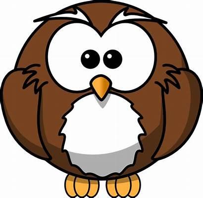 Owl Cartoon Brown Clker Clip Clipart Owls
