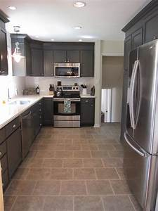 Gray, And, White, Kitchen, Makeover, With, Hexagon, Tile, Backsplash, -, Construction