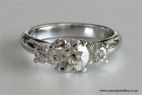 three brilliant cut lucida style crossover ring new