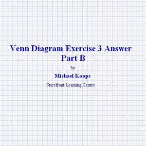 Venn Diagram Exercise 3 Answer