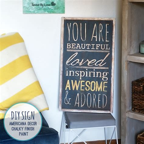 Americana Decor Chalky Finish Paint Tutorial by Diy Handpainted Signs With New Americana Decor Chalky