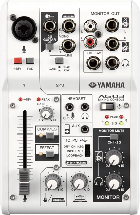 yamaha ag  ag hybrid mixers  usb audio
