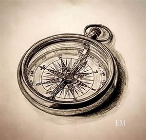 Some awesome compass artwork! Personally hand drawn. # ...