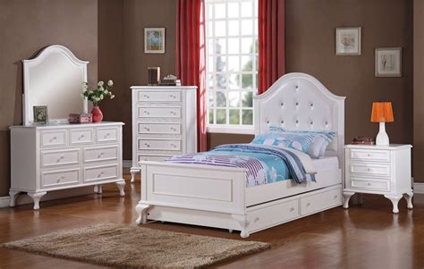 jesse trundle bedroom set white finish jstb
