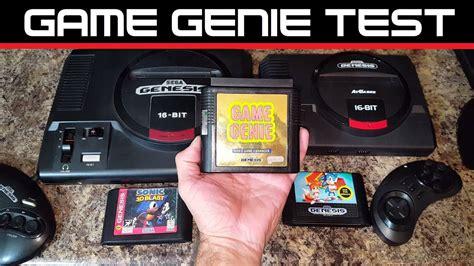 Sega Genesis Flashback Game Genie Test At Games Youtube