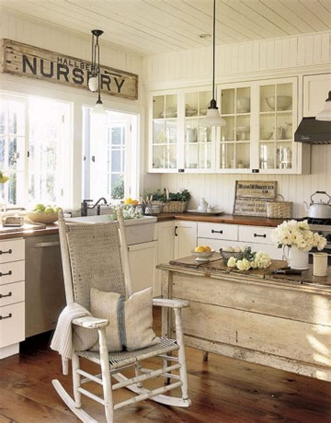 shabby chic kitchens rustic and farmhouse styles with a shabby chic twist in the kitchen decoist