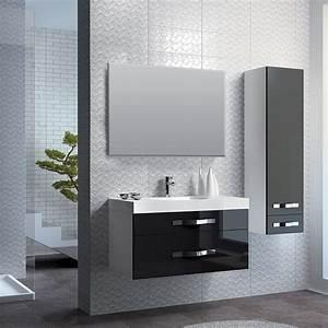 Meuble Bois Et Noir : meuble salle de bain blanc et noir collection et meuble ~ Dailycaller-alerts.com Idées de Décoration