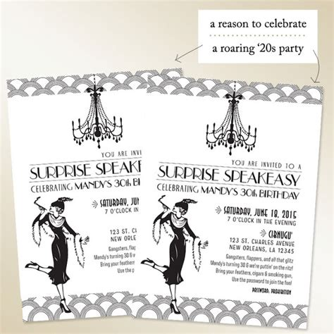 roaring twenties invitation template 24 best images about 1920 invite on birthday printables and vintage