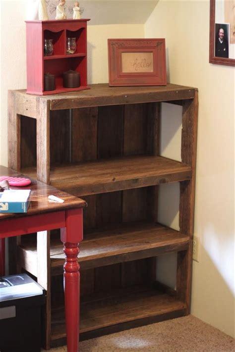 make a desk out of bookshelves 13 budget friendly diy pallet shelves and racks shelterness