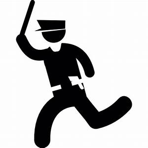 Running cop - Free people icons
