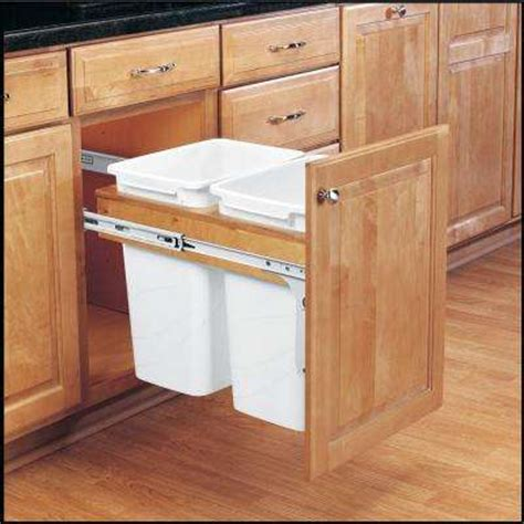 cabinet trash can pull out trash cans kitchen cabinet organizers the
